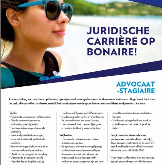 Advocaat   Stagiaire | Ban Boneiru Bèk